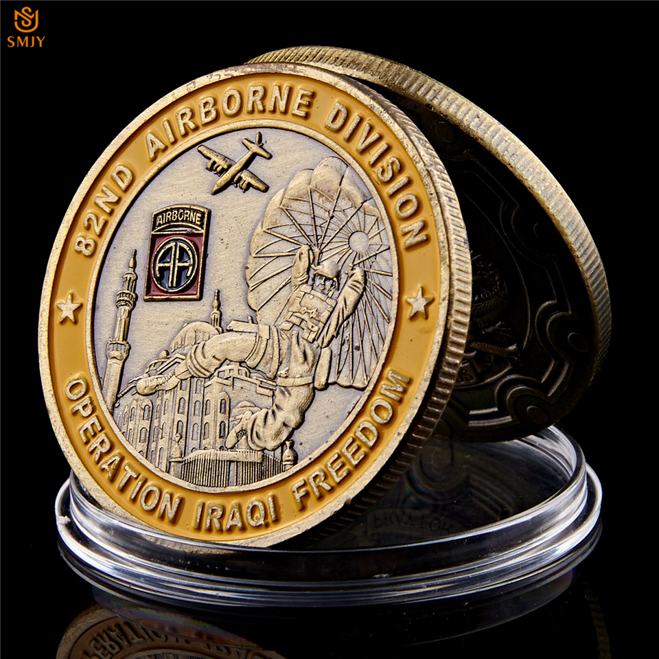 US $2 81 28% OFF|Saint George Operation Iraqi Freedom 82nd Airborne  Division Military Challenge Commemorative Coin Collectibles-in Non-currency  Coins