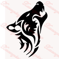 2X 2019 Hot Car Styling Wolf Silhouette Classic Car Sticker For Cars Side Truck Window Auto Door Kayak Vinyl Decal JDM
