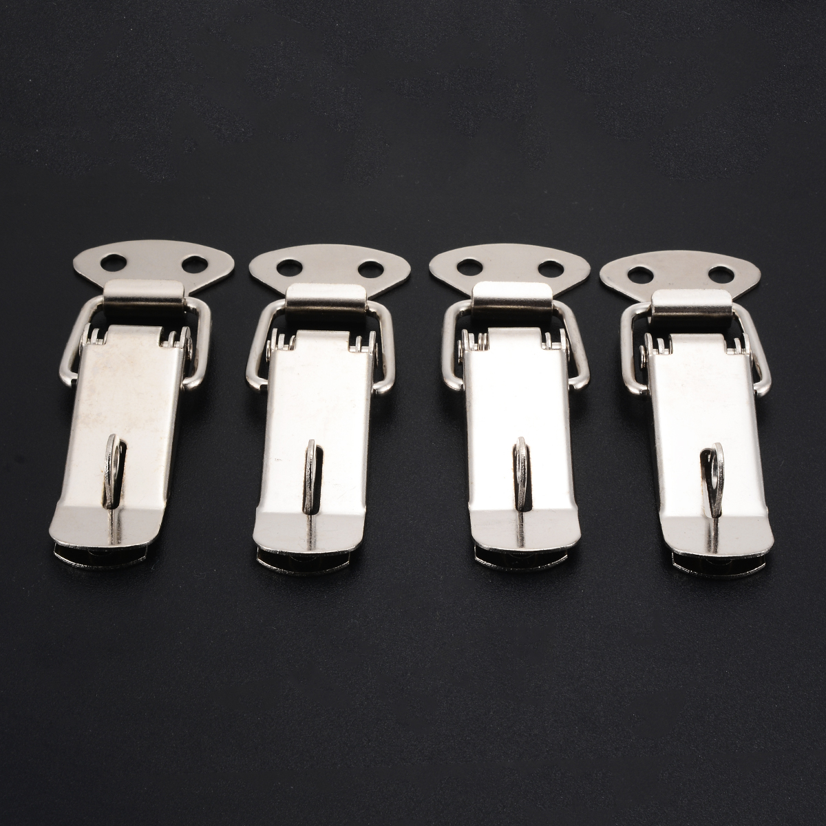 4Pcs Stainless Steel Spring Toggle Latch Clasp Case Catch Lock Buckle Iron Hasp For Case Chest Lock Box