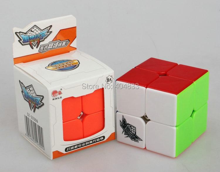 Cyclone jungen 2x2 Feichang Cube Stickerless Cubo Magico Pädagogisches Spielzeug für Kinder Geschenk Idee