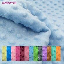 Zyfmptex cobertor de costura, tecido ecológico super macio de 30 cores para medidor, trabalho manual e antipilhamento de tecido de pelúcia
