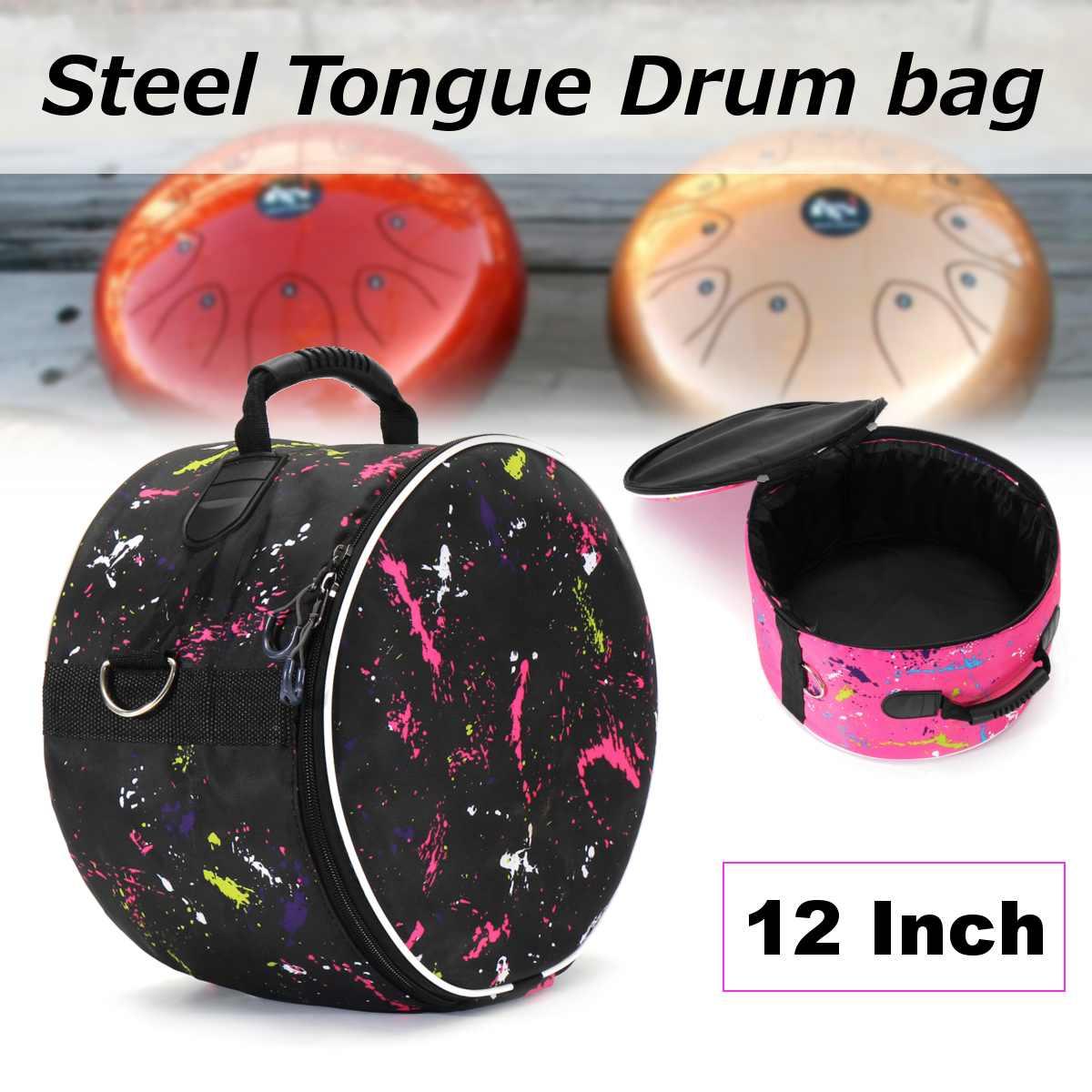 buy 12 inch durable portable steel tongue drum bag oxford fabric shoulder bag. Black Bedroom Furniture Sets. Home Design Ideas