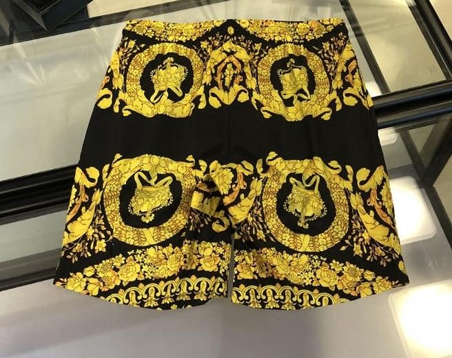 Xxxxl 2019 Nova Marca de Moda Designer Homens Pranchinha Curto Praia Swim Curto Plus Size Coroa Tema Religião Impressão - 2