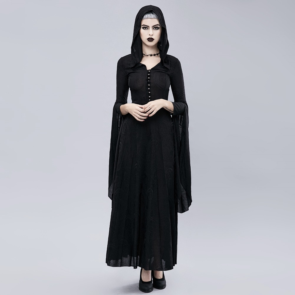 Christmas Dress  Vintage Gothic  Long Sleeve Dress   Fall 2018 Costume Ball  Ankle-Length  Party Dress