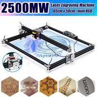 2500mW Professional 65*50cm Automatic Desktop Mini CNC Laser Engraver Cutter Home DIY Tool Engraving Wood Cutting Machine Router