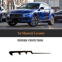 4pcs/set Fender vent Trims For Maserati Levante Base Sport S Sport Diesel Sport 2017 2018 Carbon Fiber Fender Vents