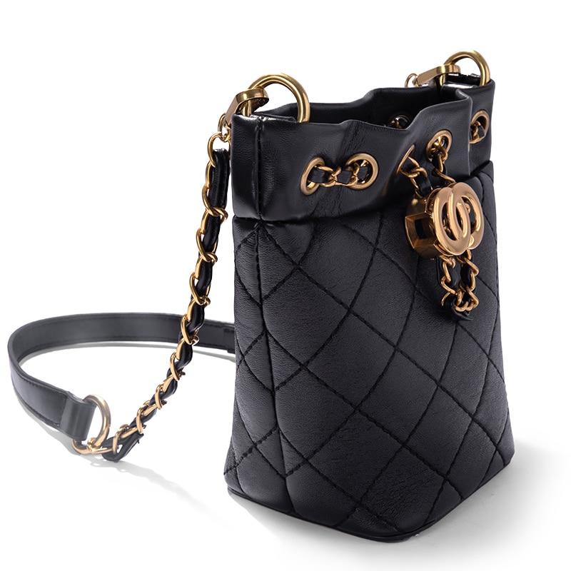 2019 nieuwe emmer tas luxe handtassen vrouwen tassen designer mode vrouwen tas voor meisje zak-in Top-Handle tassen van Bagage & Tassen op  Groep 2