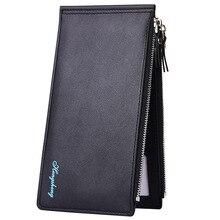 New Card Wallet Mens Mobile Handbag Ultra-thin Double Zipper
