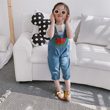 kids girls and boys cute, sweete blue Overalls