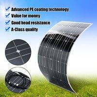 Гибкий Панели солнечные пластины 130 Вт 18В Солнечный Зарядное устройство для автомобиля Батарея 12 V монокристаллические кремниевые ячейки м
