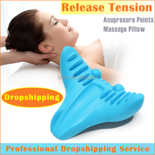 new product 2018 acupressure machine c-rest neck support pillow relaxation shoulder neck tension relief pillow massager byriver tourmaline tourmanium ceramic round neck cervical support pillow collar massager negative ion relief muscle tension