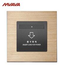 MVAVA вставка отель карта электрическое питание настенная декоративная розетка карта штепсельная розетка роскошный алюминиевый брустед