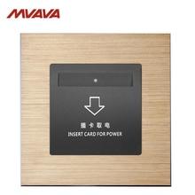 цена на MVAVA Insert Hotel Card Electrical Supply Wall Decorative Socket Card Power Receptacle Luxury Alumimum Brusted Free shipping