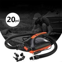 0 20 SPI Dual Stage Electric Air Pump for Inflatable Rowing Boat SUP 12V Voltage