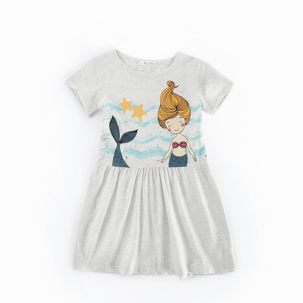 #LHF39 Girl C Printed Cotton Dress