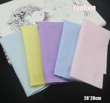 28CM Fashion Cotton Stripe Women Square Handkerchief Children Towel Party Christmas Gift Strong Water Absorption 5pcs/lot