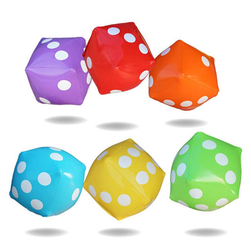 Lovely 3pcs Party Game Childrens Dice Toys 35cm Big Educational Inflatable Pvc Dice Toys Accessory For Pool Favors Home Decor Gifts Agreeable To Taste