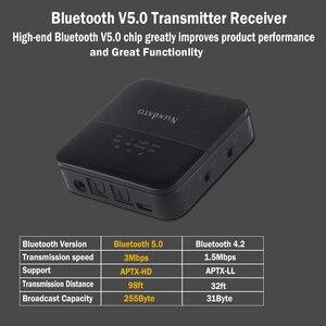 Image 4 - 2 em 1 sem fio bluetooth 5.0 música áudio transmissor receptor mini 3.5mm aux aptx hd baixa latência óptica auto no adaptador para tv