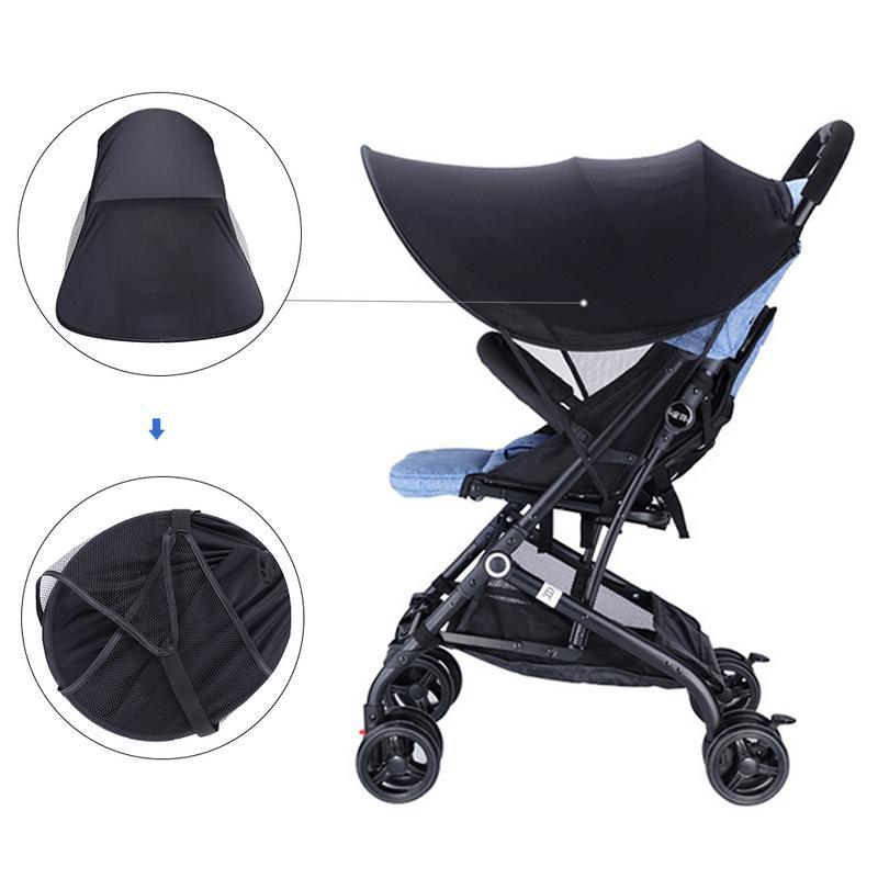 Universal Stroller Canopy Extender Sun Shade Removable Awning For Baby Carrier Infant Pram