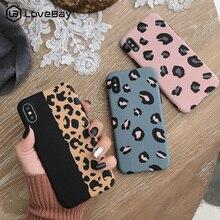 Lovebay леопардовый чехол для телефона, чехол для Iphone XS Max XR X 8 7 6 6S Plus 11 Pro, роскошный мягкий чехол для задней панели s, цветной Модный чехол