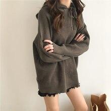 a0e3a55e7b0986 2018 Autumn And Winter New Pattern School Wind Even Hat Sweater Long Sleeve  top Unlined Upper Garment female women pullover  7