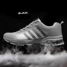 2019 New Man Running Shoes air cushion Black  Jogging Walking Breathable Mesh Sport Male Footwear Trainer Sneakers Men