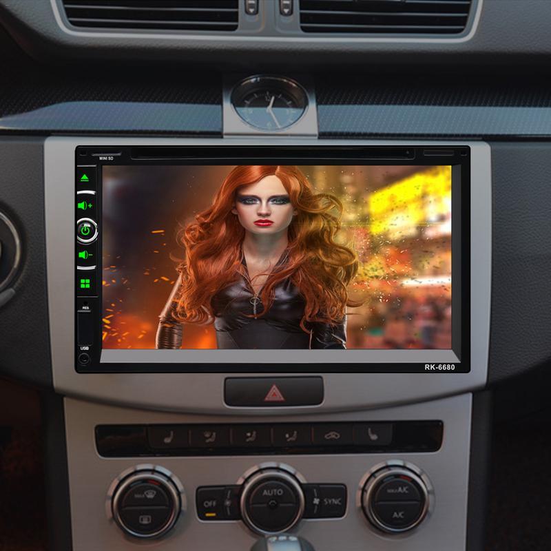 Universal DC12V Full HD1080P 7-inch 2DIN Car Multimedia  Control FM Radio Bluetooth Hands-free Calls USB AUX Mirror Link  RearUniversal DC12V Full HD1080P 7-inch 2DIN Car Multimedia  Control FM Radio Bluetooth Hands-free Calls USB AUX Mirror Link  Rear