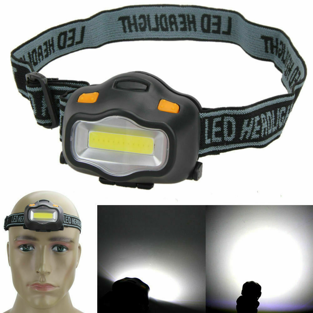 Waterproof 500LM Rechargeable Sensor Head Torch Light LED Headlamp Headlight UK
