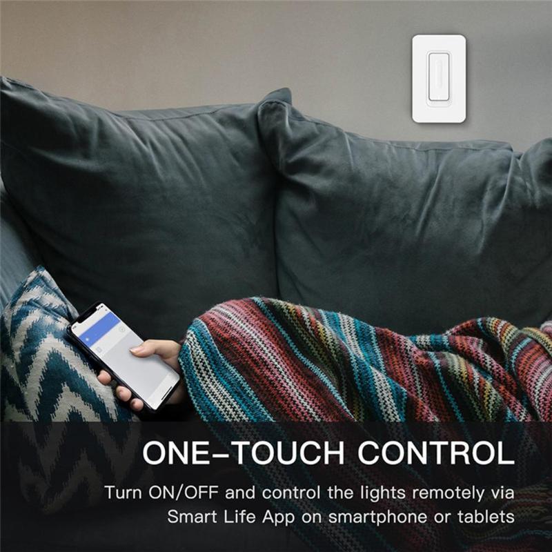 Interrupteur de commande tactile intelligent gradateur de lumière WiFi interrupteur tactile de montage mural avec AC 100-240 V 50/60 hzveille deux Types de contrôle - 3