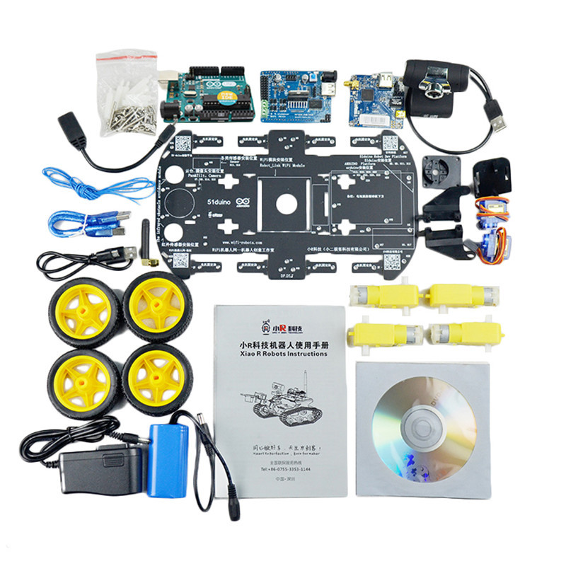 Xiao R DIY Smart Robot Wifi Video Control Car Kit With WiFi Module 2DB Antenna Camera Model Toy Robots - 6
