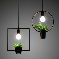 Loft ретро Зеленый завод подвеска в виде вазы свет золотистые железные для Обеденная Ресторан Спальня Кофе магазин Гостиная светодиодный E27