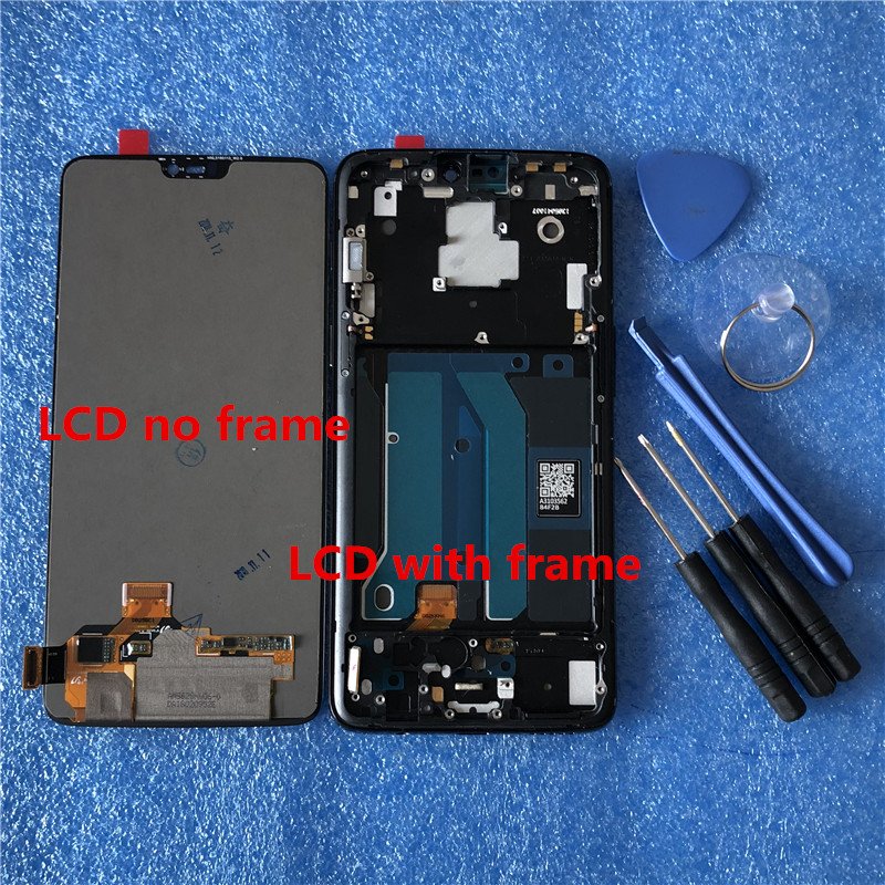 """Image 4 - Original LCD Display With Frame For 6.28"""" Oneplus 6 Axisinternational Super AMOLED LCD Screen Display+Touch Panel Digitizer-in Mobile Phone LCD Screens from Cellphones & Telecommunications on"""