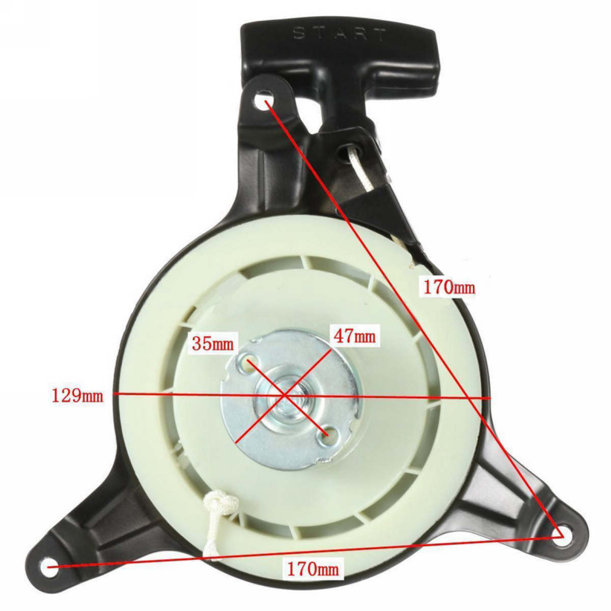 Recoil Starter Pull Start Replacement Assembly For 1P61P0 MTD Engine Push Mower 751-10299 951-10299A
