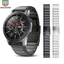 Correa de Metal de 20mm y 22mm para Samsung Gear S3 Galaxy Watch, pulsera de acero inoxidable de 46mm para Huawei GTWatch de instalación rápida