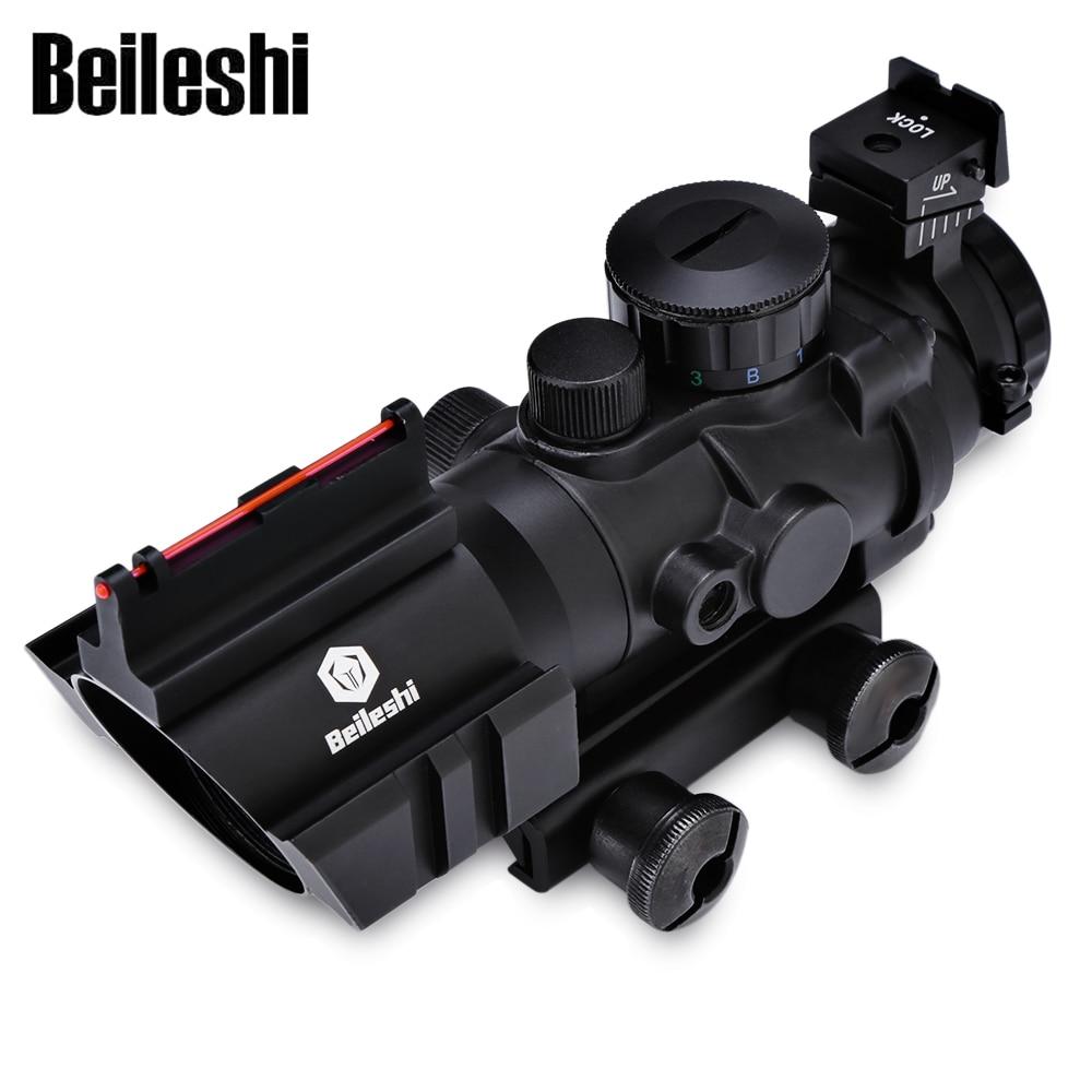 Lunette de visée compacte Beileshi tactique 4X32 pour Rail de 20 MM