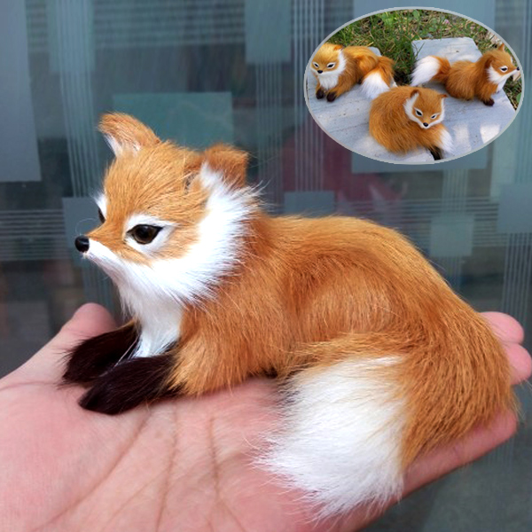 1Pcs Simulation Animal Foxes Plush Toy Doll Photography For Children Kids Birthday Gift AN88