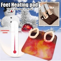 New 1pc/lot Big Feet Warm Slippers Adjustable Electric Hand Foot Heating Pad Home Computer Electric Heaters Winter Warmer Shoes