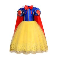 AmzBarley Girls Snow White Dress Children Princess Halloween Party Cosplay Costume Puff Sleeves Dress Fancy Clothes