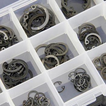 175 Pcs Anéis De Aço Inoxidável Anel De Abertura 6-25mm Interno Kit Sortido
