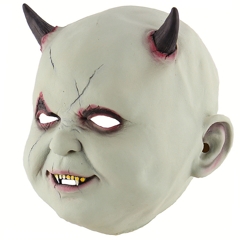 Scary Vampire Mask For Adult Halloween Costume For Adult Latex Horror Zombie Cosplay in Boys Costume Accessories from Novelty Special Use