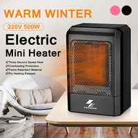 500W 220V Portable Electric Mini Fan Space Heater US Plug Winter Warm Home Office Desk Air Conditioner Heating For Baby Shower
