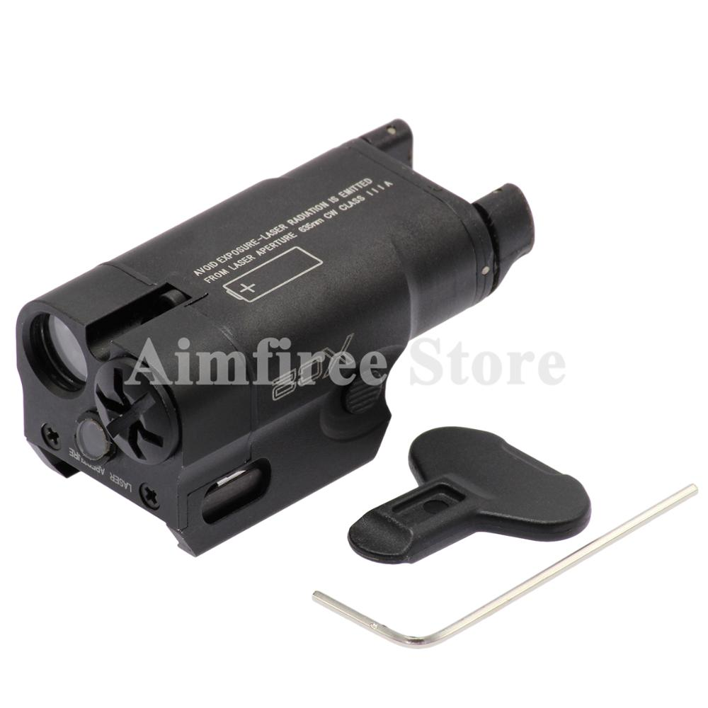 Tactical XC2 Compact Pistol Flashlight Laser Light Mini Gun LED Weapon Light With Red Dot Laser 200 Lumens Airsoft Hunting Torch peq15 la5 airsoft spotlight weapon shotguns light tactical flashlight military red dot ir laser pistol lanterna rifle lights