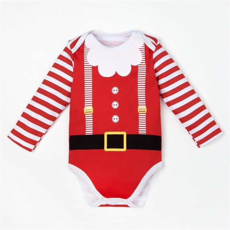 Bodysuit baby with lengths. Hand Santa Baby bodysuit baby long sleeve