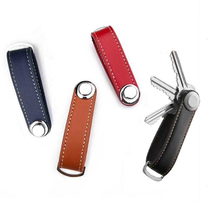 Nice Gift Key Wallet EDC Gear Keychain Faux Leather Pocket Ring Portable Key Holder 1Pcs Key Organizer