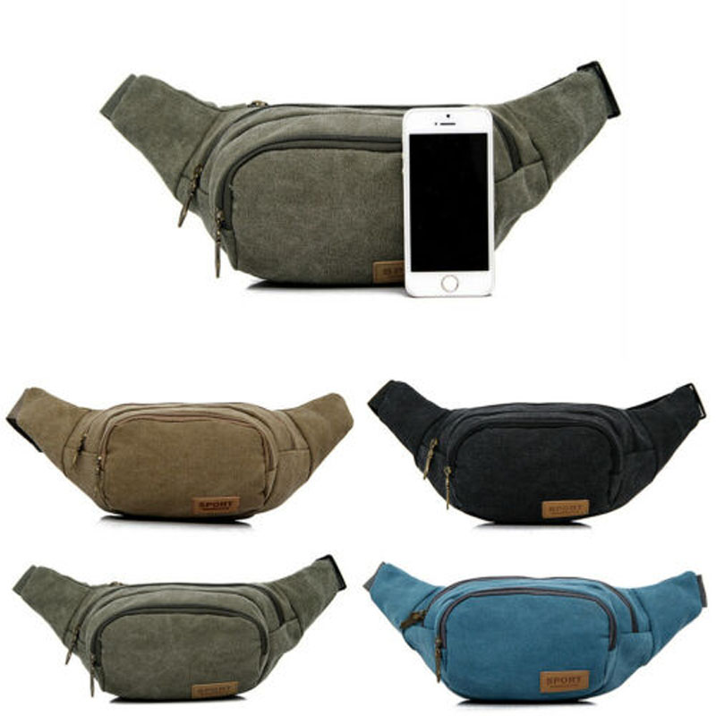 2019 New Brand Fashion Bum Bag Fanny Pack Festival Money Waist Pouch Travel Canvas Belt Holiday Wallet