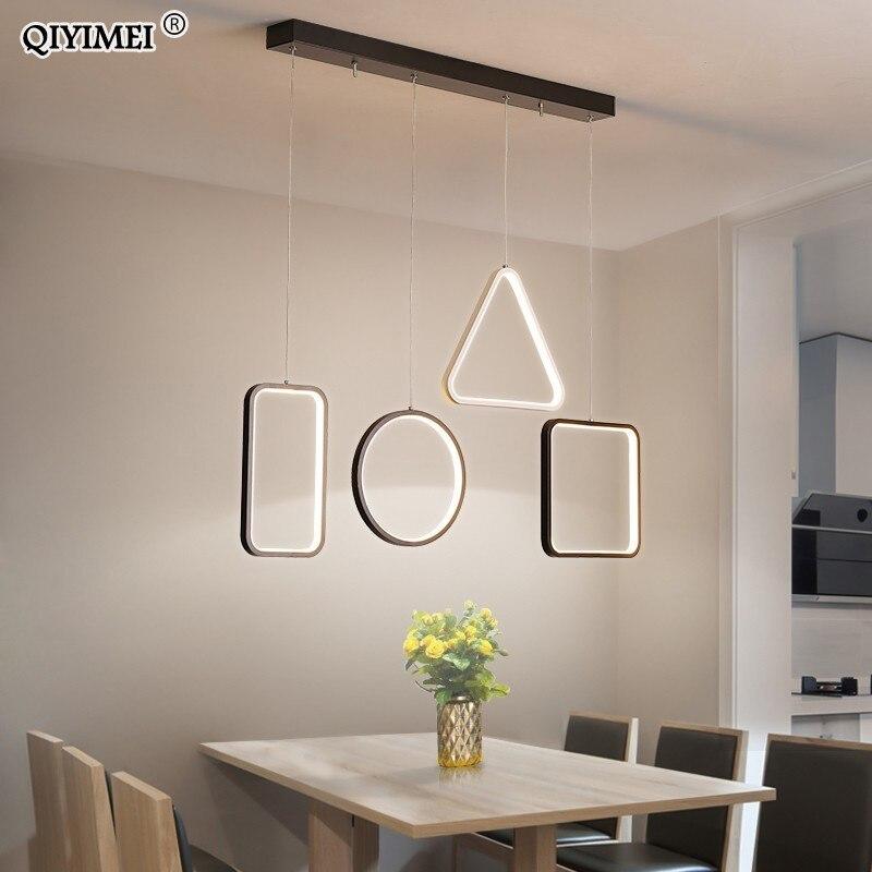 Creative pendant lights Led modern for dinning room suspension hanging ceiling lamp home lighting for Kitchen AC85 260V fixtures