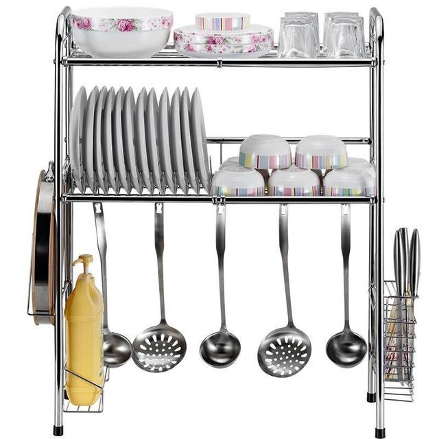 Organisateur Fridge Dish Drying Refrigerator Sink Organizer Stainless Steel Cocina Organizador Mutfak Cuisine Kitchen Rack