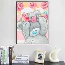 Diamond Painting Teddy Bear 5D DIY Mosaic Embroidery Cross Stitch Craft Home Decoration