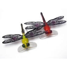 2PK Dragonflies Hard poppers Fishing crankbaits Lure with Transparent Wings