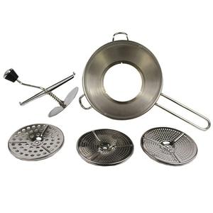 Image 1 - Roestvrij Staal Voedsel Molen 2 Quart Capaciteit 3 Frezen Discs
